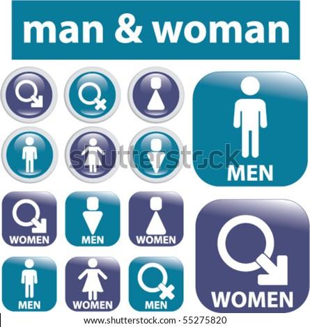man & woman signs. vector - stock vector