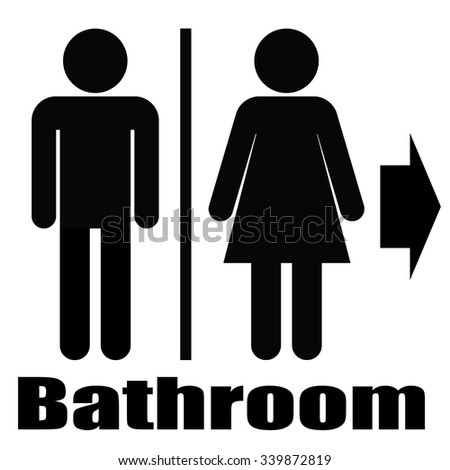 Bathroom Sign Man And Woman man woman toilet sign male female stock vector 339872522