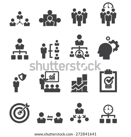 manage icon - stock vector
