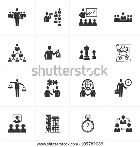 Management and Business Icons - stock vector