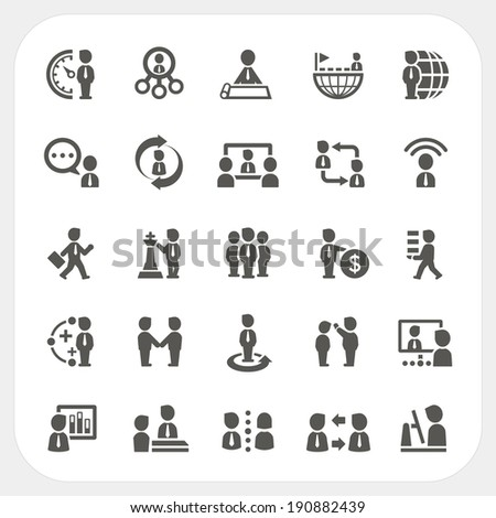 Management and Business icons set - stock vector