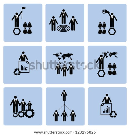 Management and Human resource,icon set,Vector