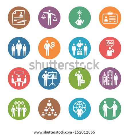 Management and Human Resource Icons - Dot Series  - stock vector