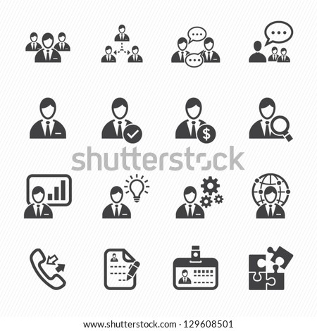 Management and Human Resource Icons with White Background - stock vector