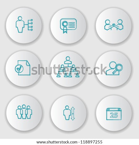 Management,Business ,Human resource,icon set,Vector - stock vector