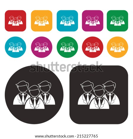 Management, human resources, business persons and user icon - stock vector