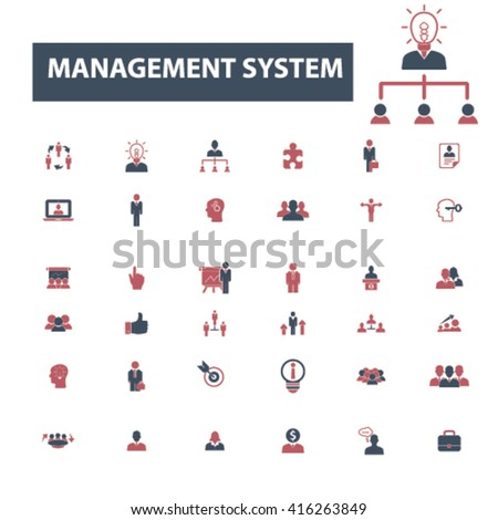 management icons  - stock vector