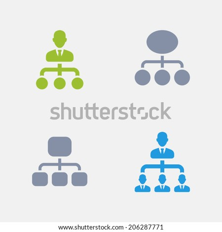 Management Icons. Granite Series. Simple glyph style icons in 4 versions. The icons are designed at 32x32 pixels. - stock vector