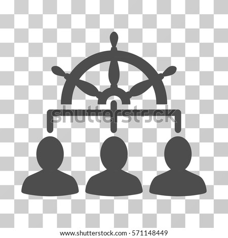 Management Steering Wheel Icon Vector Illustration Style Is Flat Iconic Symbol Gray Color