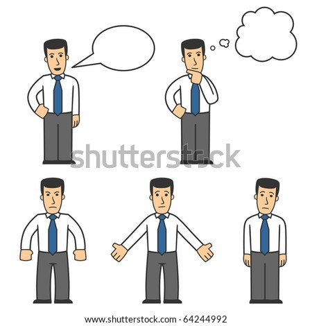 Manager character set 04 - stock vector