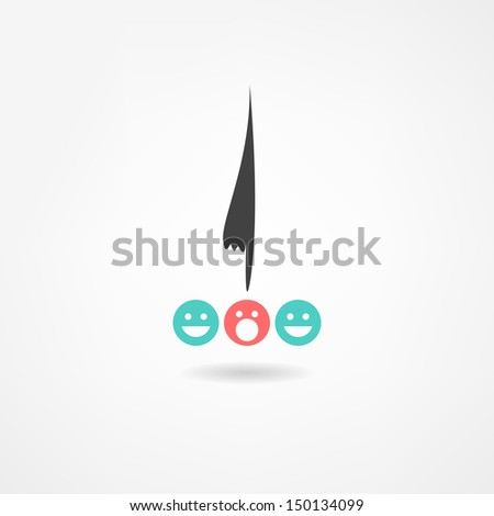 manager icon - stock vector