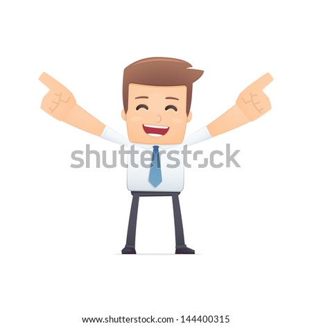 manager, suitable for use in dialogs with other characters. - stock vector