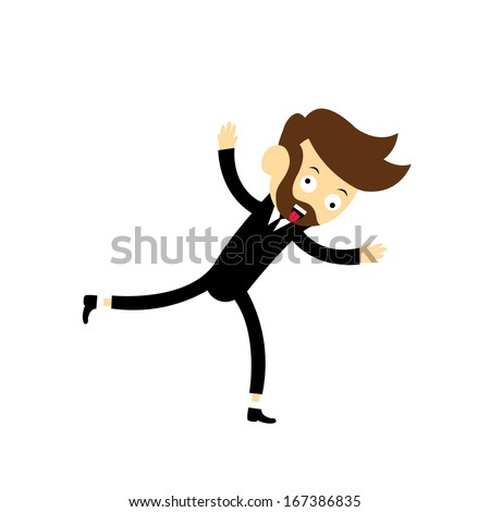 manager vector cartoon for dialogs with other characters  - stock vector