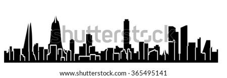 Manama, Bahrain skyline - stock vector