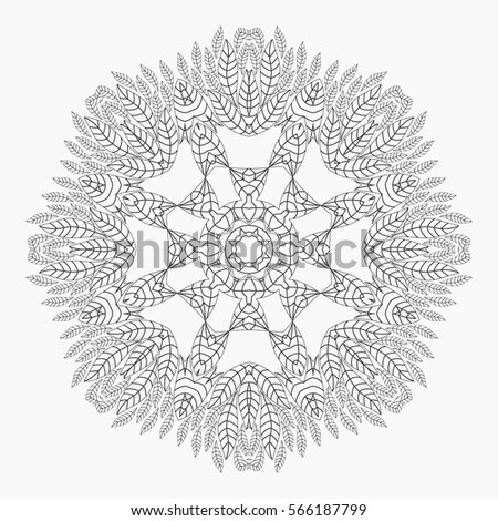 antistress coloring pages for adults monochrome circular lace oriental pattern coloring book