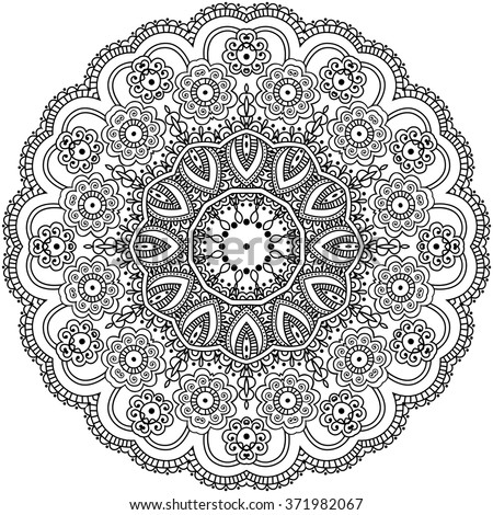 Mandala Coloring Illustration Coloring Book Adult Stock Vector ...