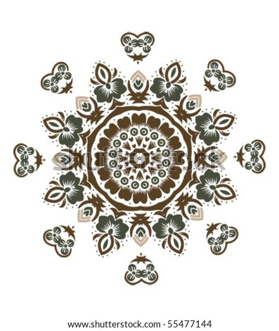 Mandala design - stock vector