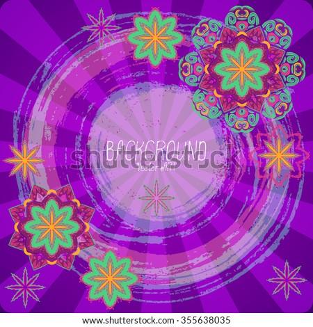 Mandala. Ethnic decorative background. Hand drawn background. Islam, Arabic, Indian, ottoman motifs. - stock vector
