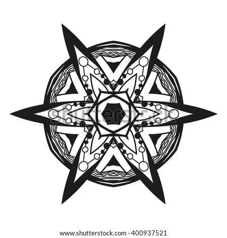 tribal tattoo style vector illustration stock vector 206804893 shutterstock. Black Bedroom Furniture Sets. Home Design Ideas