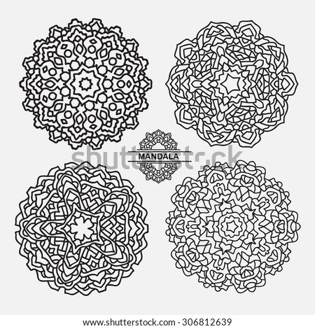 Mandala for painting.Vector ethnic Oriental.Circle ornament.