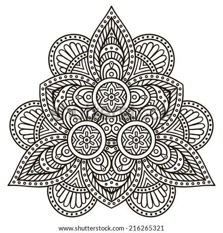 Henna Mandala Stock Images Royalty Free Images amp Vectors Shutterstock