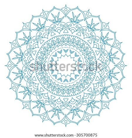Mandala. Round Ornament Pattern. Vintage decorative elements. Hand drawn background. Islam, Arabic, Indian, ottoman motifs. - stock vector