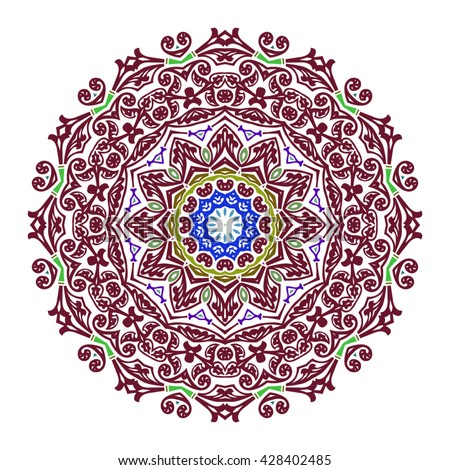 Mandala. Round ornament. Vintage decorative elements. Vector
