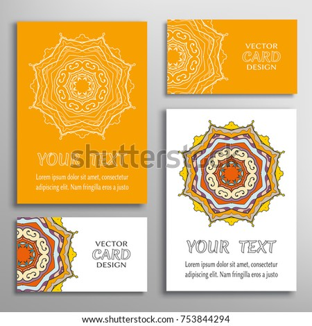 Mandala Sign Symbol Colorful Round Ornament Stock Vector 753844294