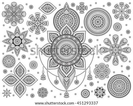 Mandala Vector Mandala Floral Mandala Flower Stock Vector 451293337 ...