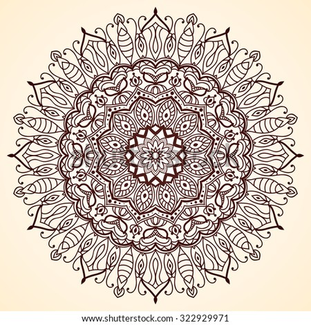 Mandala Vintage Decorative Element Oriental Islamic Stock Vector ...