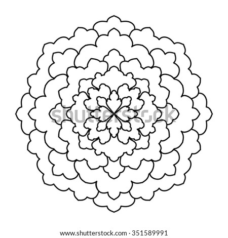 Mandala. Vintage Round Ornament Pattern. Islamic, Arabic, Indian, Ottoman Motifs, Kaleidoscope, Medallion, Yoga, Meditation. Ethnic decorative element for any kind of design or coloring book.