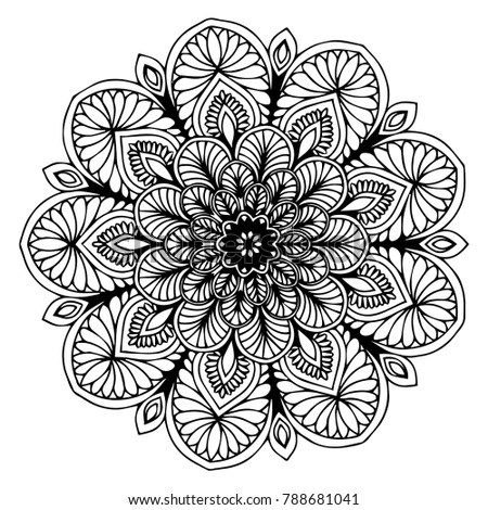 Mandalas Coloring Book Decorative Round Ornaments Stock Vector ...