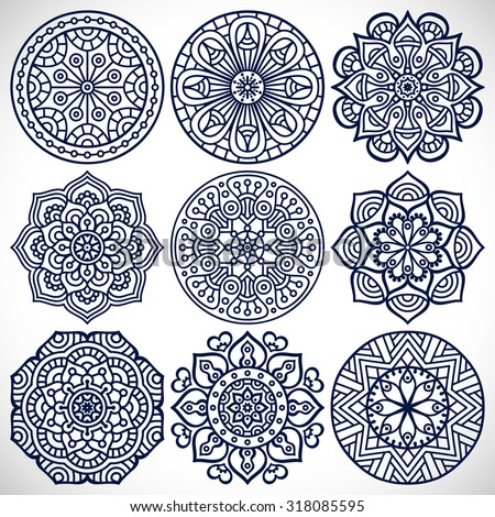 Mandalas. Vintage decorative elements. Oriental pattern, vector illustration.  Islam, Arabic, Indian, turkish, pakistan, chinese, ottoman motifs - stock vector