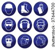 Mandatory construction related icon set each individually layered - stock photo