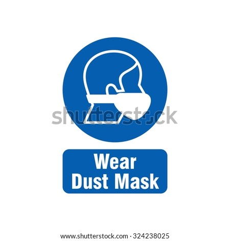 Mandatory Signs, Safety Sign Used in Industrial Applications  - stock vector