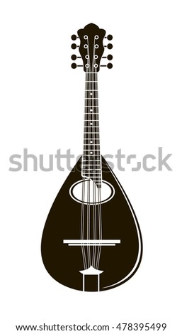 mandolin musical instrument vector illustration
