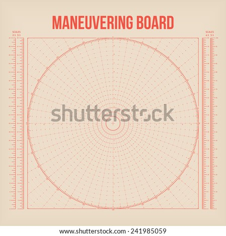 Maneuvering Board. Vector - stock vector