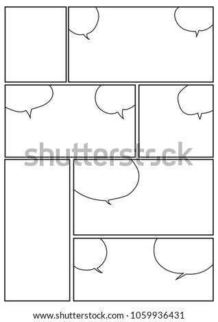 Manga Storyboard Layout Template Rapidly Create Stock Vector ...