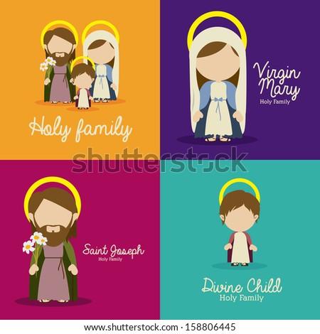 manger design over colorful background vector illustration - stock vector