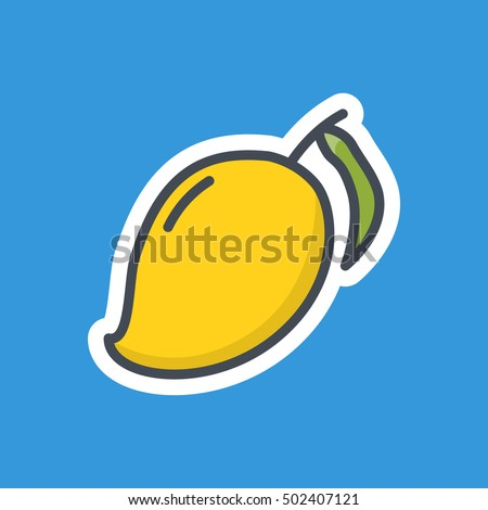 Mango Icon Food Fruits Stickers
