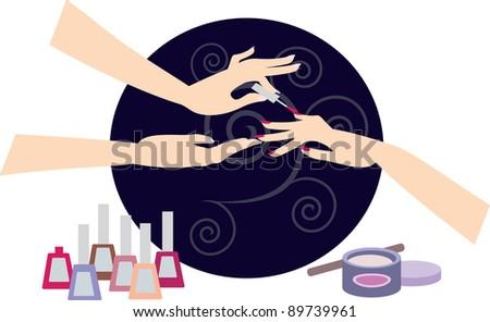 Manicure - stock vector