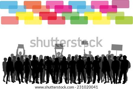 manifestation  - stock vector