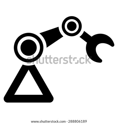 Manipulator icon from Business Bicolor Set. This flat vector symbol uses black color, rounded angles, and isolated on a white background. - stock vector