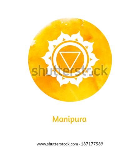 Manipura chakra. Vector Illustration. - stock vector