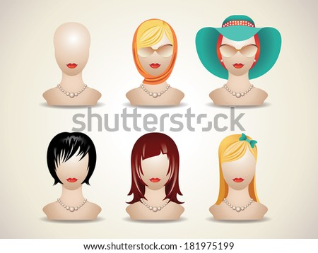 mannequin head. mannequin without hair - stock vector