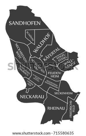 Germany District Isolated Map Stock Images RoyaltyFree Images - Germany map mannheim