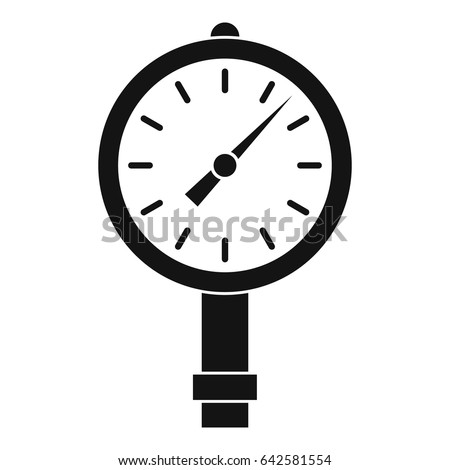 Manometer Pressure Gauge Icon Simple Style Stock Vector 642581554