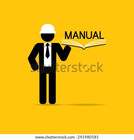 manual icon technician carry manual book stock vector hd royalty rh shutterstock com manual book carry 1.0 manual book carry 1.0