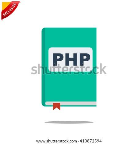 manual php book icon vector handbook stock vector 2018 410872594 rh shutterstock com vector handgun vector handpieces