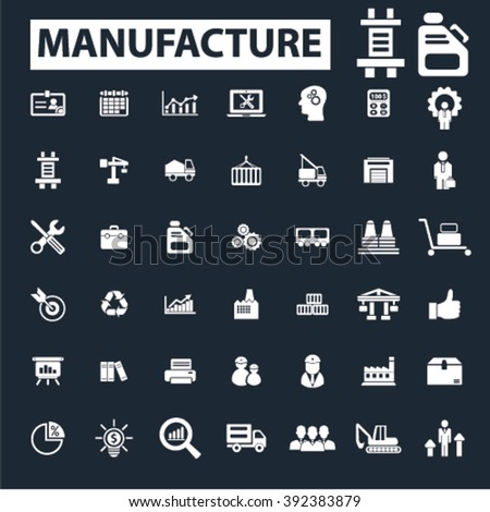manufacture icons  - stock vector